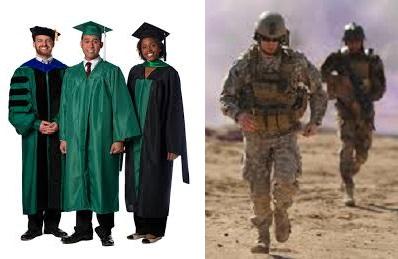 College graduates vs.Enlisted Men 398x259